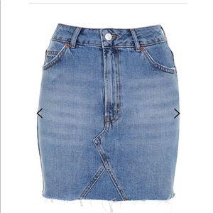 TopShop TALL high waisted denim/jean skirt